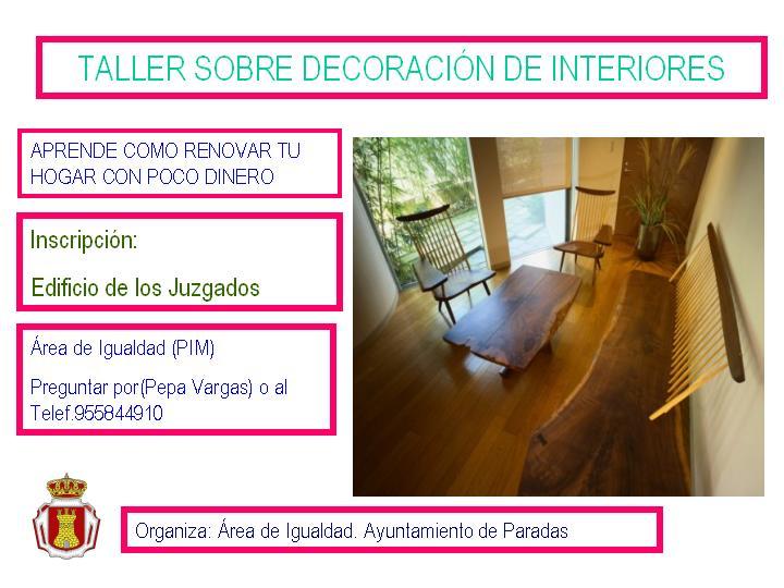 Taller sobre decoraci n de interiores el eco de paradas for Taller decoracion de interiores