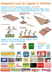 Cartel I Cpto. Local Jugando At. (06-04-14)